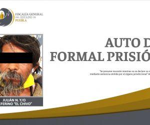 Auto de formal prisión por violación de una menor de edad en 2013